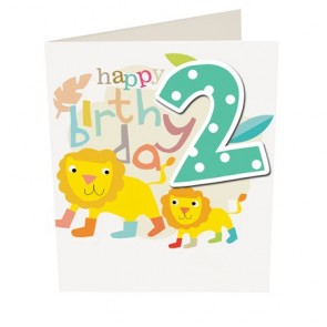 Caroline Gardner Happy Birthday Boy Age 2 Birthday Card