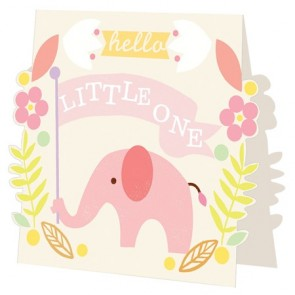Caroline Gardner Hello Little One - Girl - Card