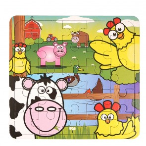 Jigsaw - Farm design card Jigsaw