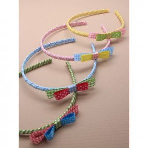 Gingham Alice Band with Bow