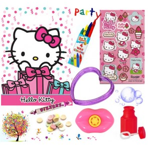 Hello Kitty pre filled party bag - contents