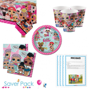 LOL Surprise Party Tableware Saver Pack for 8, 16, 24 and 32 Guests