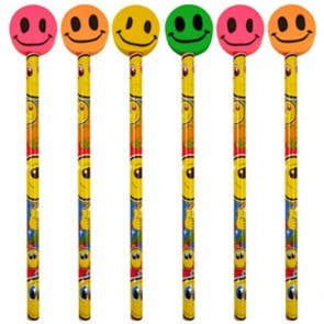Smiley Face Pencil with Large Eraser