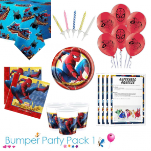 Spiderman Homecoming Party Tableware Bumper Pack 1