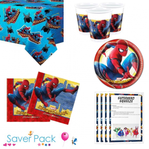 Spiderman Homecoming Party Tableware Saver Pack