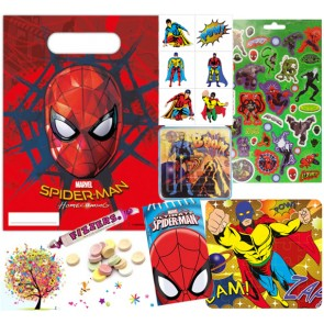 Spiderman pre filled party bag - contents
