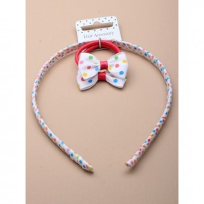 Spotty Alice Band and Hair Band Set