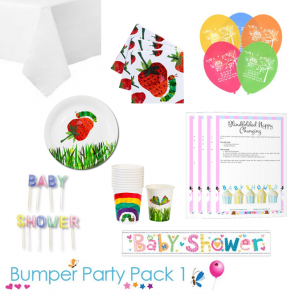 The Hungry Caterpillar Baby Shower Party Tableware Bumper Pack 1