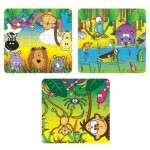 Jigsaw - Zoo and Jungle animal design card Jigsaw