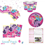 My Little Pony Party Tableware Saver Pack for 8 or 16 guests