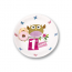 Little Owl Girl 1st Birthday Party Plates