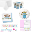 Little Owl Boy Baby Shower Party Tableware Saver Pack