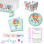 Up Up and Away Baby Shower Party Tableware Saver Pack