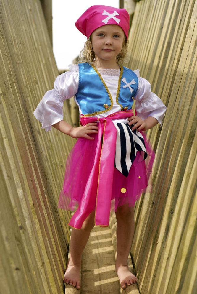 Girls pirate dressing up outfit