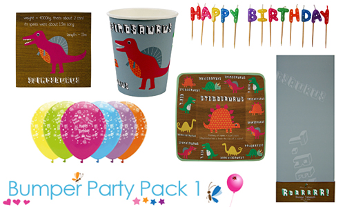 Dinosaur bumper party pack