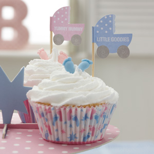 Tiny Feet Cupcake Toppers